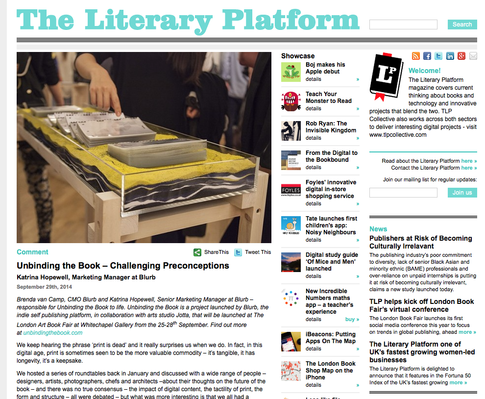 The Literary Platform asks - Who is the author of the future?