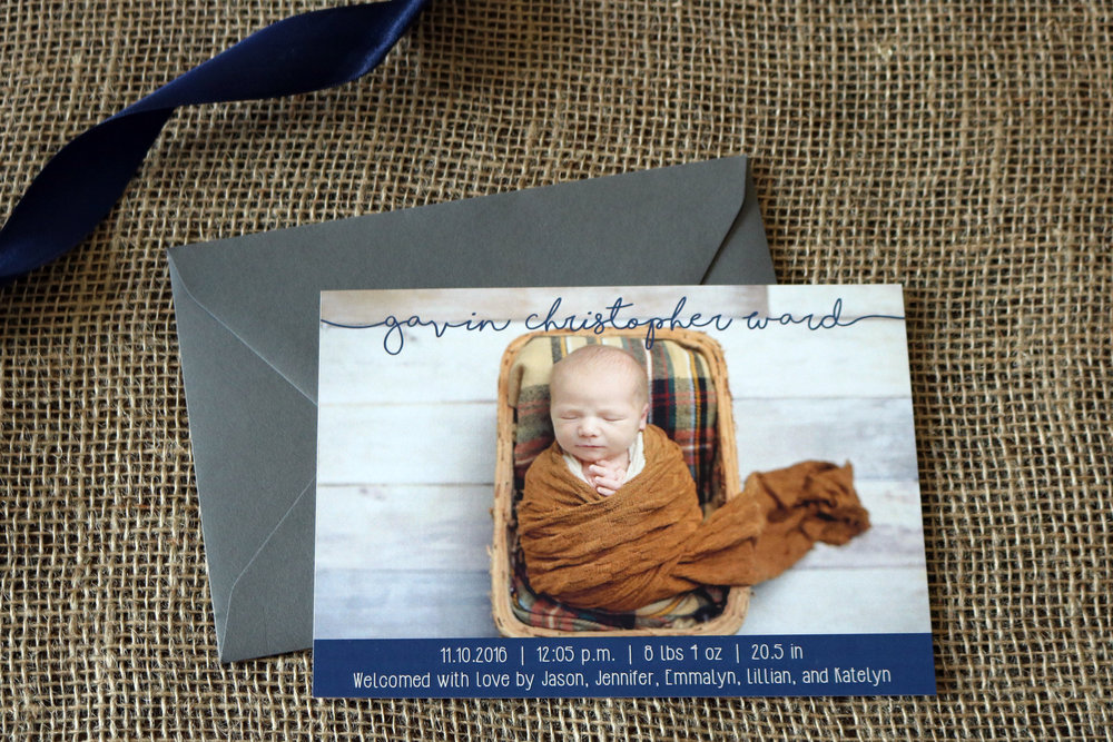 GAVIN | BIRTH ANNOUNCEMENT