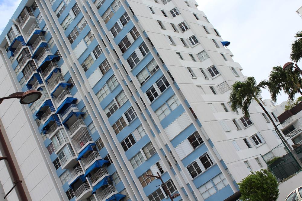 Apartment complex in San Juan.