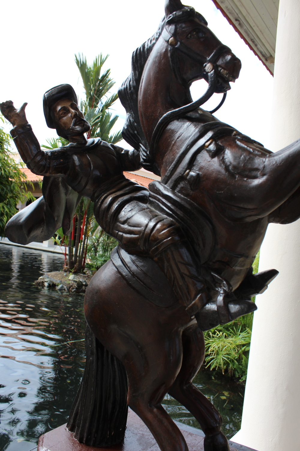 One of the many statues around the resort