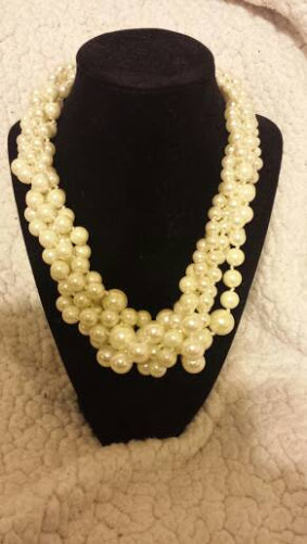This is one of my favorite statement necklace from J. Crew. It's a bulky layered pearl necklace that is quality made.