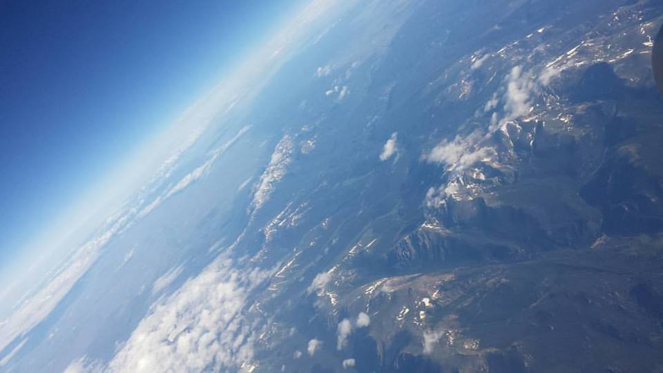 This is an aerial view of the Rocky Mountains while I was flying out to Las Vegas, Nevada.