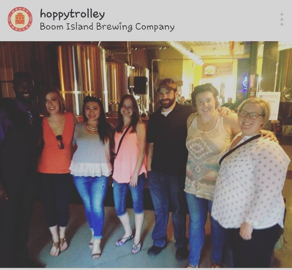 Taken at Boom Island Brewing Company by our driver Kevin. Courtesy of Hoppy Trolley on Instagram.