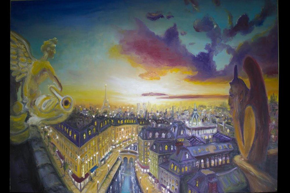 """The Guardians Over Paris Skies"""