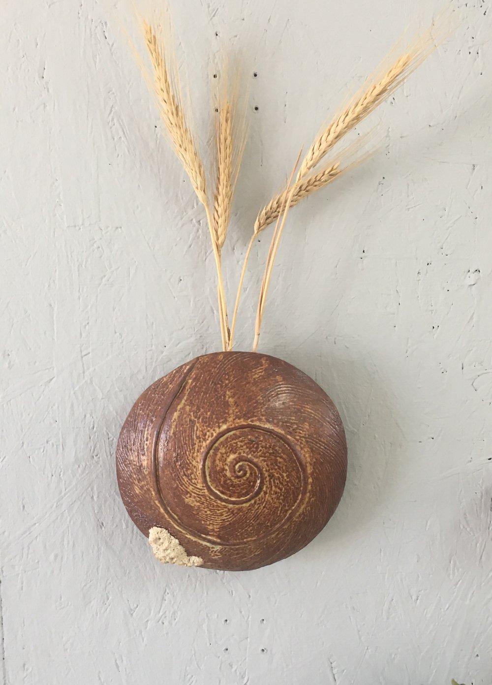 Snail Spiral Wall Vase
