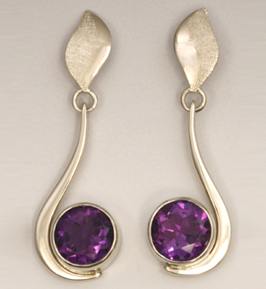 18K White Gold Earrings, Amethyst,.jpg