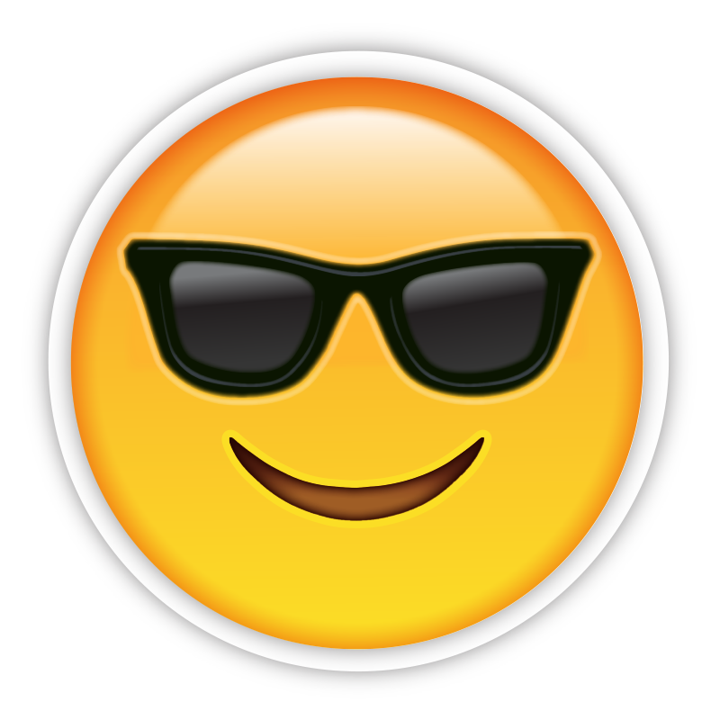 Sunglasses schiphol for Emoji printouts