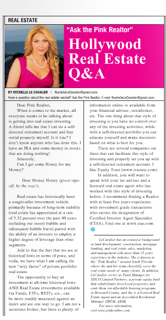 """Ask The Pink Realtor""   Hollywood Gazette    March 2011"