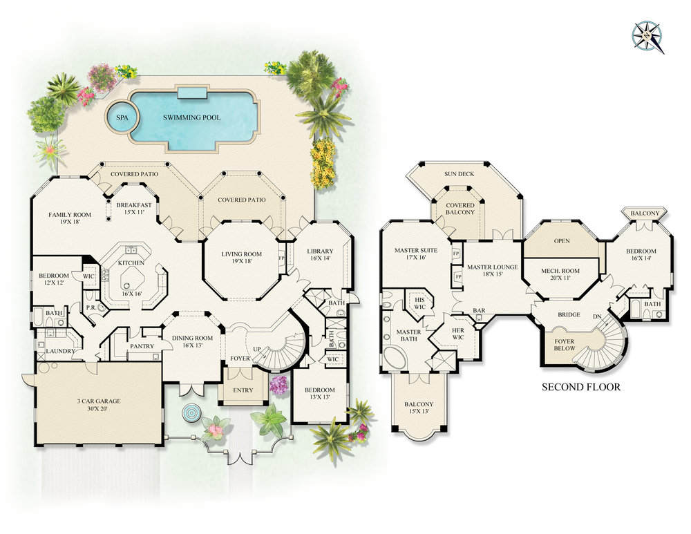 1544 Thatch Palm Drive Floor Map