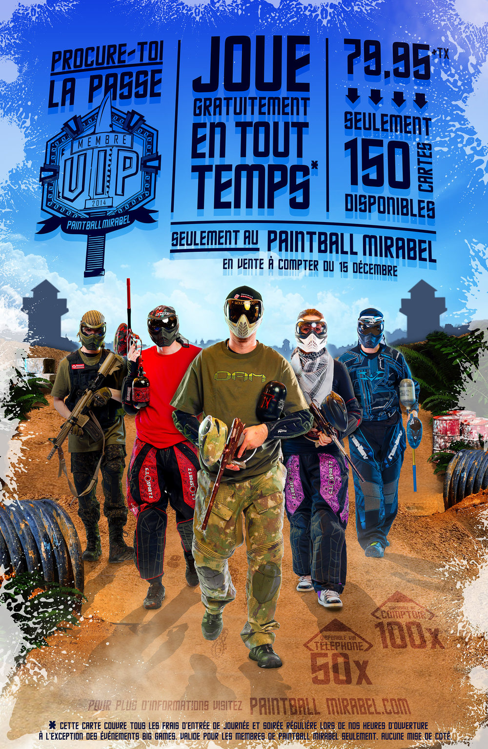 Photos faites pour Paintball Mirabel en 2014. Design fait par www. escteam .com