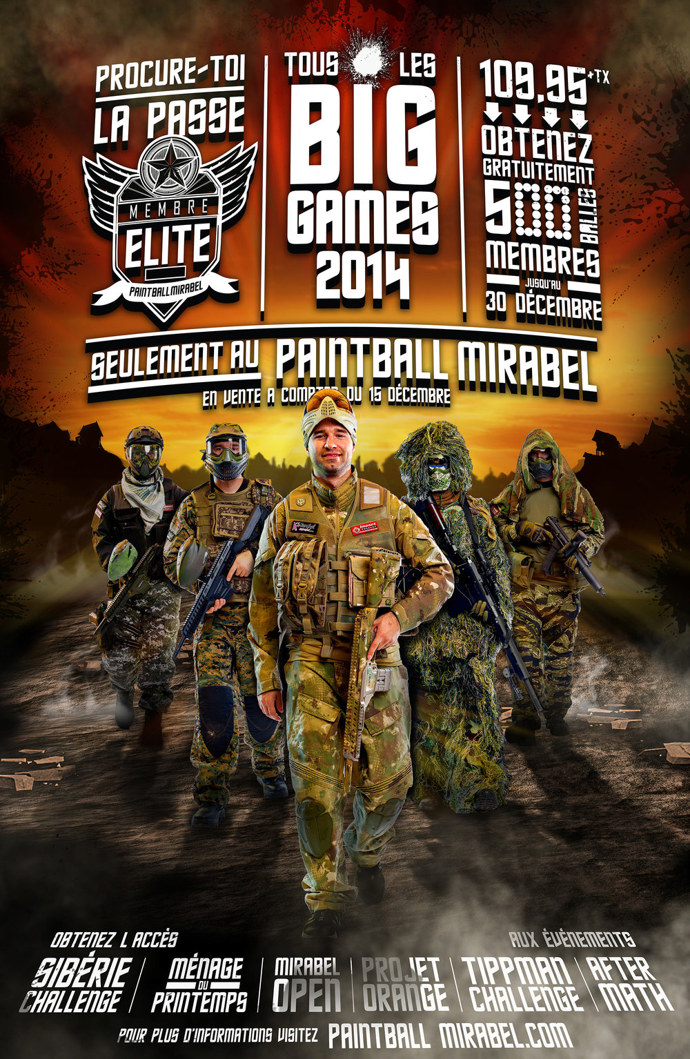 Photos faites pour Paintball Mirabel en 2014. Design fait par www.escteam.com