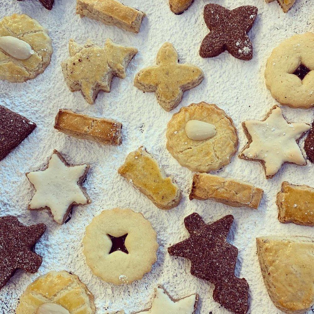 Swiss Christmas biscuits Guetzli