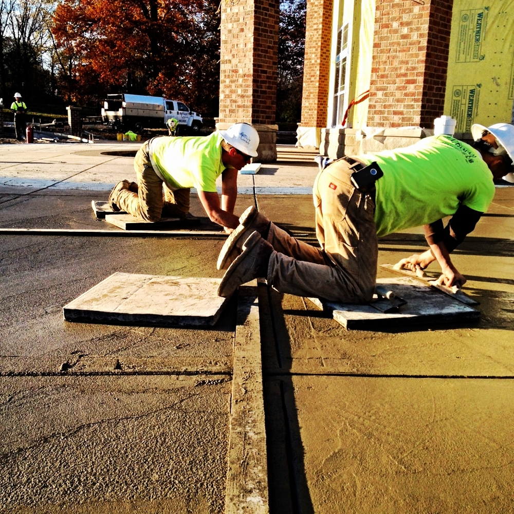 Photo Credit: scott brehm Crew finishing on commercial site