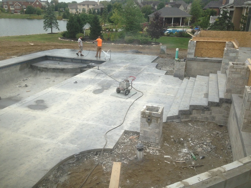 MATTINGLY CONCRETE INC POOL DECK SURROUND