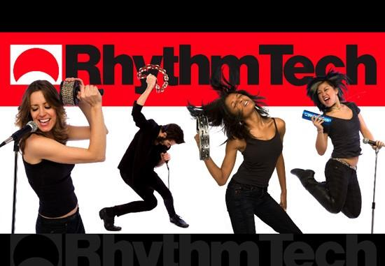 Emily appeared as a musician who moves well for Rhythm Tech's NAMM (2011) promotional artwork.