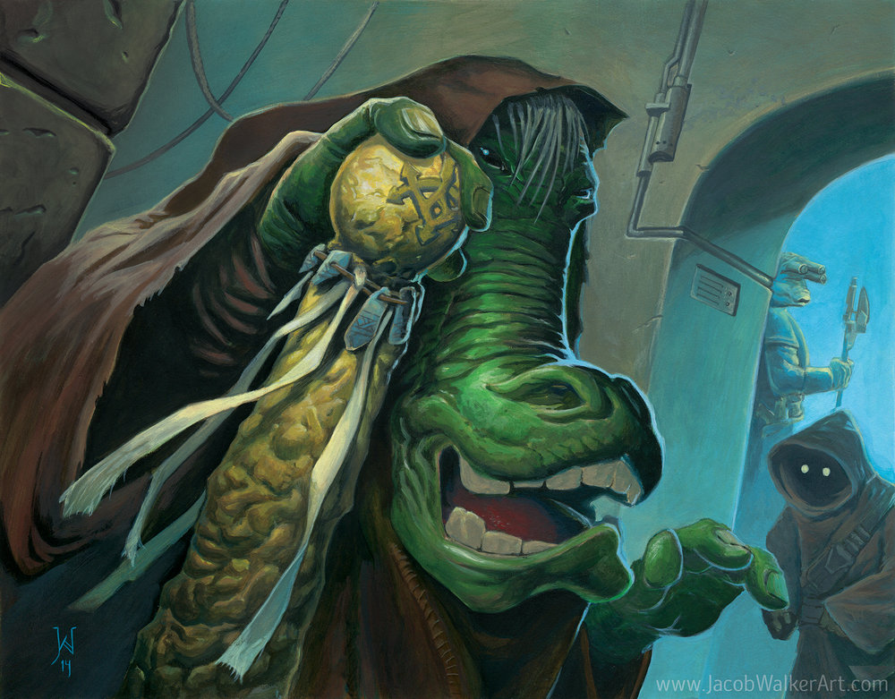 Ephant Mon, the Chevin in Jabba's palace