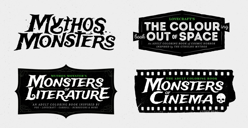 Mythos Monsters Logo Sheet