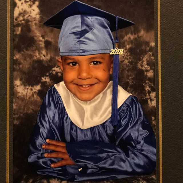 Hey Everybody,  I'm graduating and heading to Kindergarten this fall. ✌🏾-Isaiah #mrcheeks