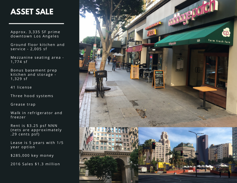 Asset sale dtla restaurant — commercial brokers international.