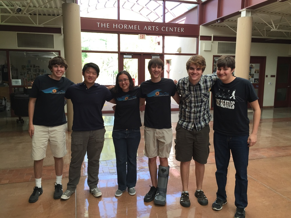 Officers for the 2015-16 school year.  From left to right: Nicholas Currault, Edison Siu, Nicole Thumma, Will Weiss, Reed Steiner, Arra Melikian.