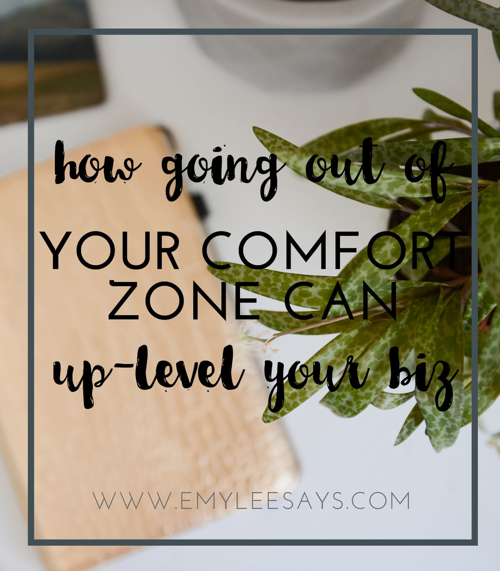 how going out of your comfort zone can up-level your small creative business