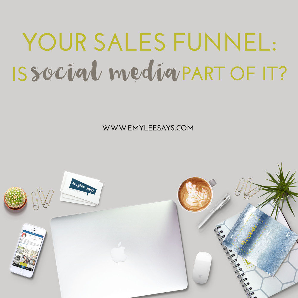 Some experts say that your sales funnel doesn't start until after your clients convert from social media channels. I think they're wrong.