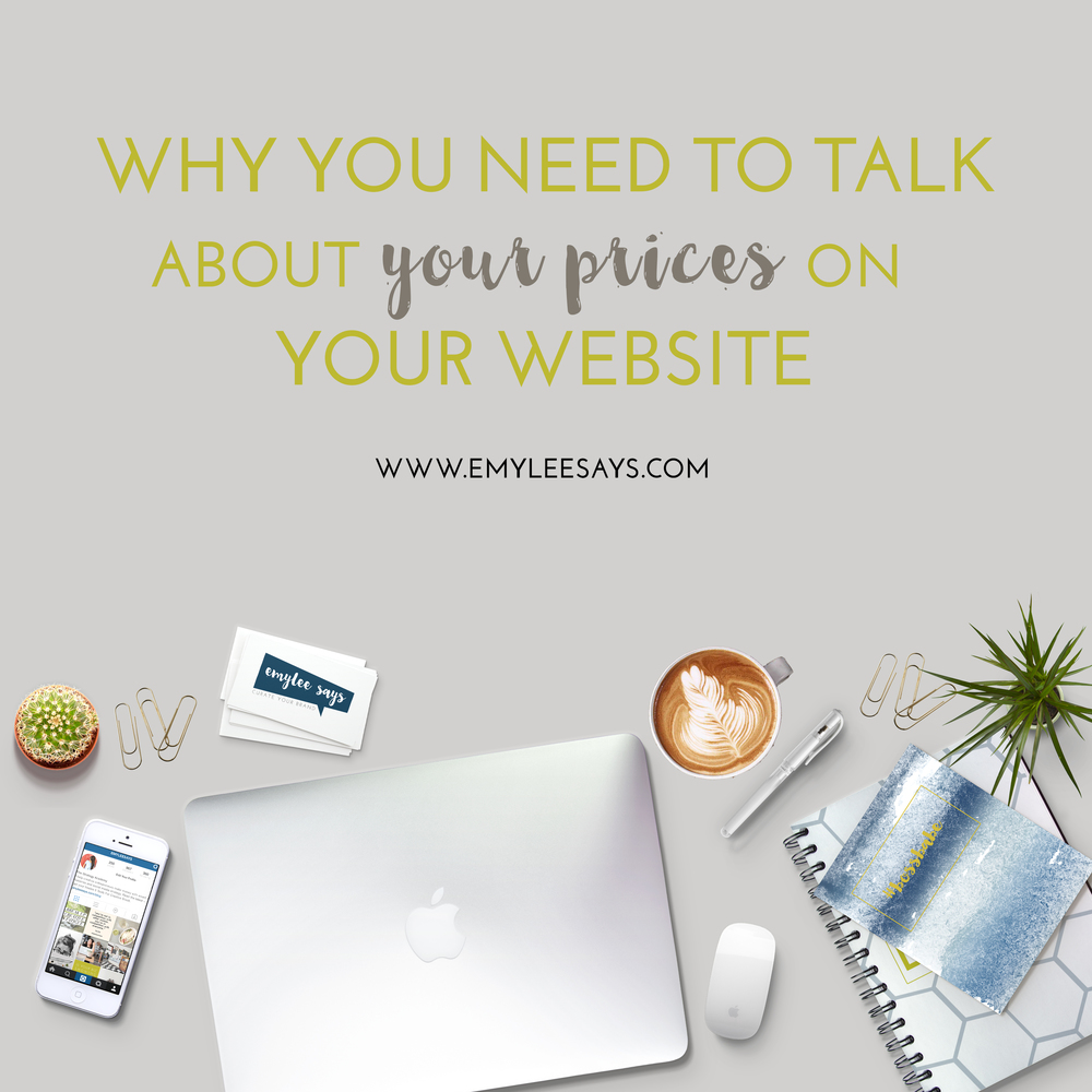 "Do you show your prices on your website? Here is my two-step formula for priming clients to begin to think about ""the price"" as more than a number."