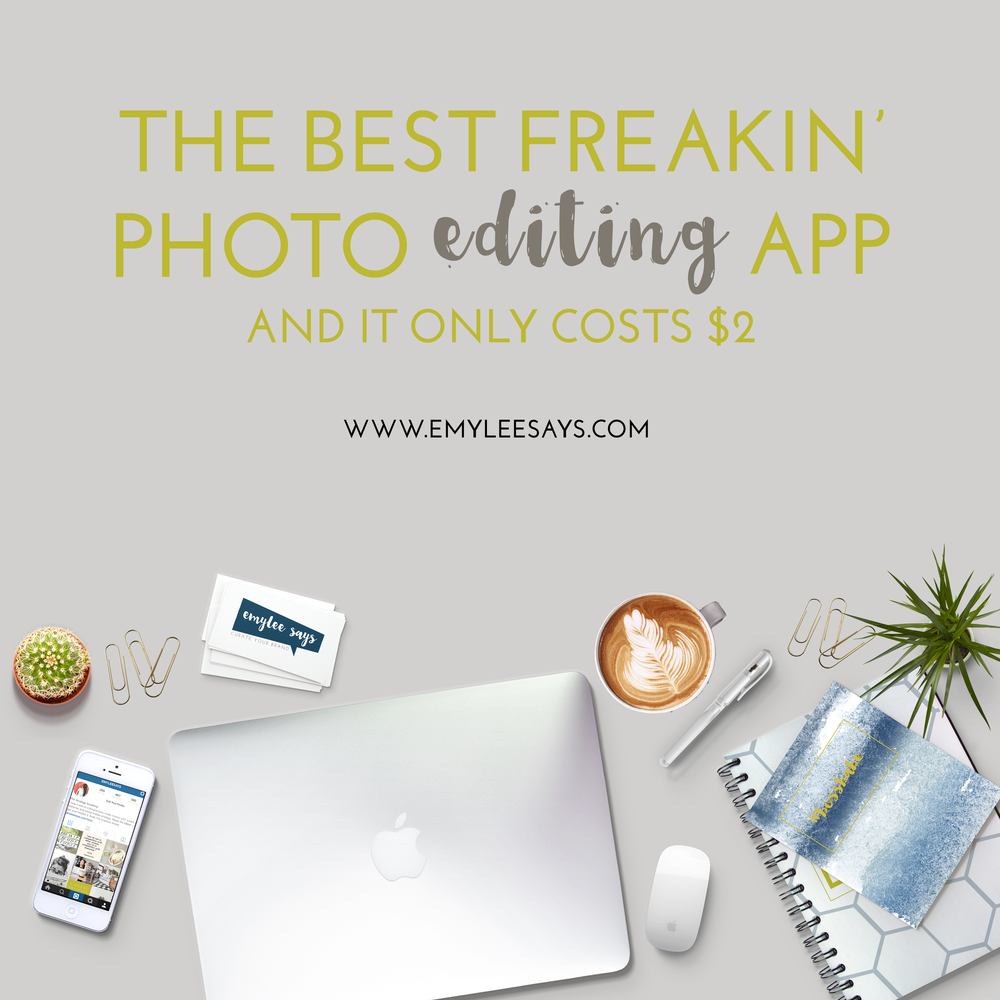 The best freakin' photo editing app and it costs less than $2.