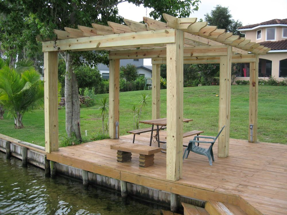 Arbor, Deck, Sea Wall