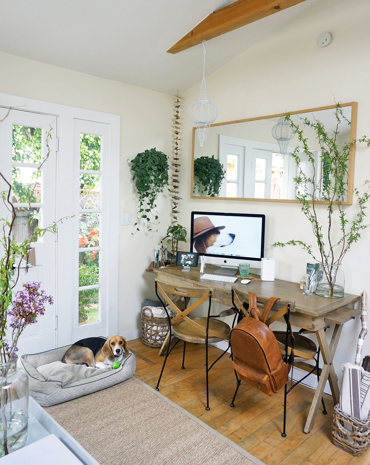 Tiny live work office space the tiny canal cottage - Small work space decor ...