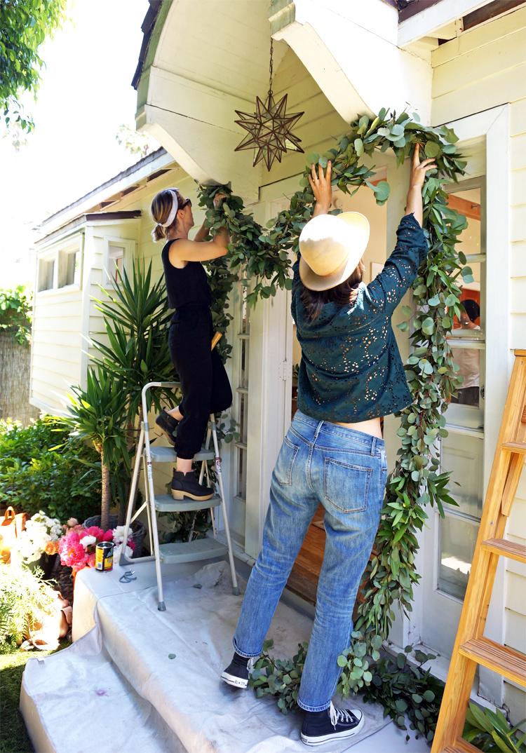 prepping garland.jpg