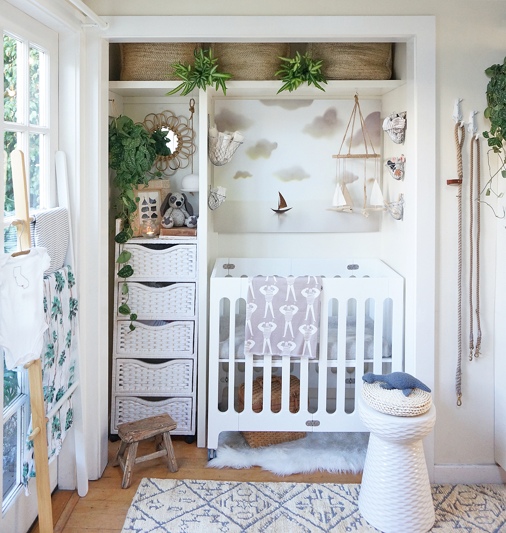 Tiny house nursery the details the tiny canal cottage - Baby room ideas small spaces property ...