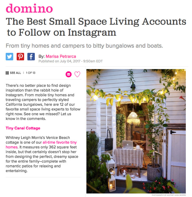 The Best Small Space Living Instagram Accounts — The Tiny Canal Cottage