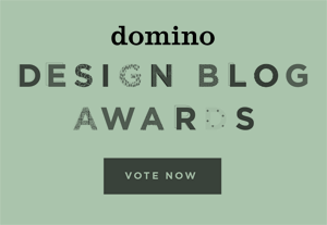 "Vote for the cottage as the ""Best Small Space Blog"" on domino! (through October 31, you can vote once per day.)"