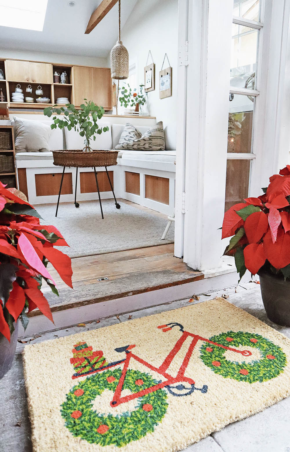Above:  Garnet Hill Doormat Collection - Wreath Bicycle