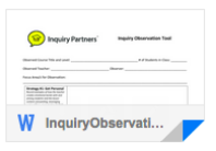Inquiry Observation Template