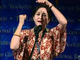 Consummate storyteller, Carmen Agra Deedy, at the 2011 National Book Festival