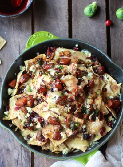 Cranberry, Butternut And Brussels Sprout Brie Skillet Nachos: http://www.huffingtonpost.com/2015/02/27/brie-cheese-recipes_n_3677996.html