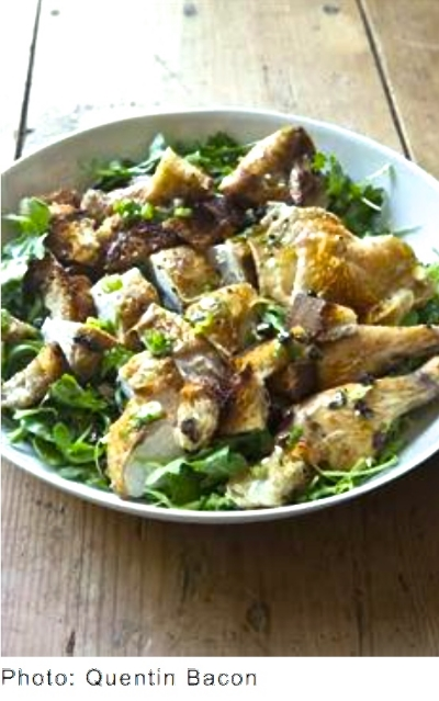 Roast Chicken with Bread & Arugula Salad @http://www.barefootcontessa.com/recipes.aspx