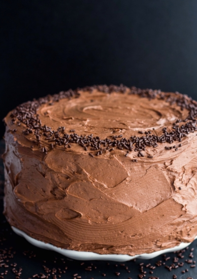 Simple Chocolate Birthday Cake @http://www.halfbakedharvest.com/simple-chocolate-birthday-cake-whipped-chocolate-buttercream/