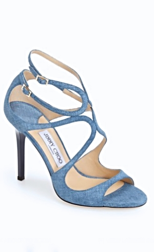 Fabulous Jimmy Choo denim sandals