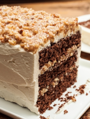 German chocolate cake@http://www.chow.com/recipes/13745-german-chocolate-cake