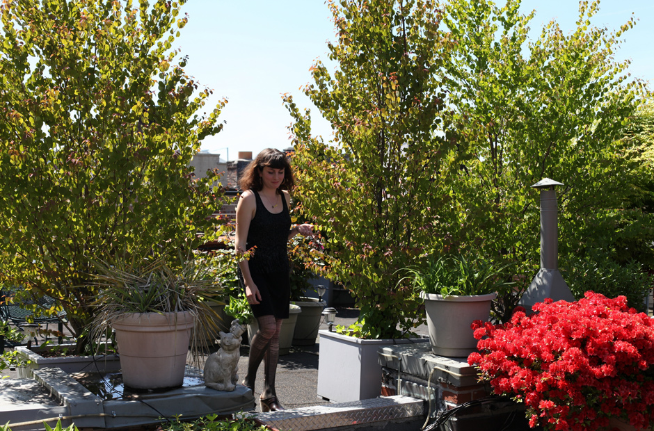 Me on the roof of 138 west 10th street, June 2013.  Denise and Jimmy turned this rooftop garden into an oasis in the city. Photo by Marco Annunziata from Freunde von Freunden