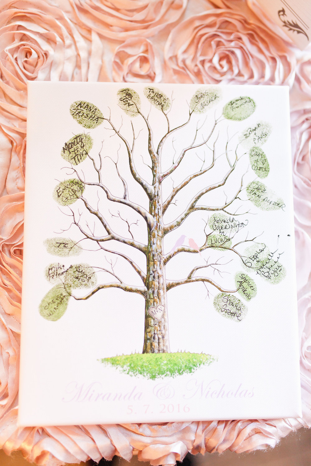 "Guestbook - Turn your guestbook into displayable art! Create a tree template and let guest use their fingerprints to create leaves! Then they can sign their own ""leaf"""