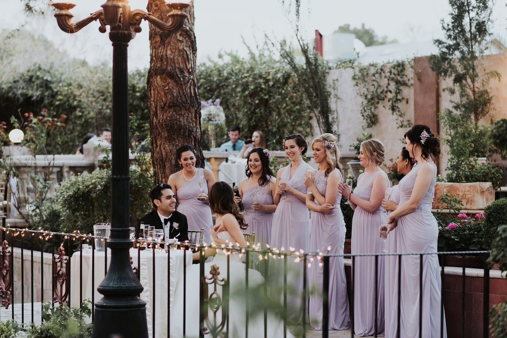 Toast the Bride and Groom  - During the reception have a prepared and meaningful speech about the Bride and Groom