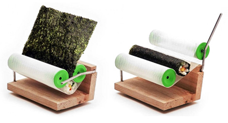 This exists. Roll your own sushi.  Amazing.
