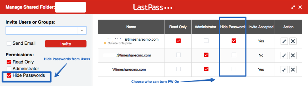 At TimeShareCMO, most of team members never see client passwords!