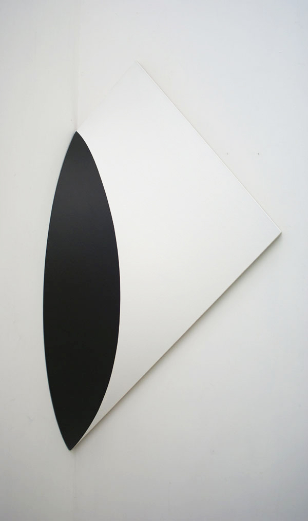 SLICED CIRCLE (CUT OFF)   ACRYLIC ON LINEN      47 x 33 x 14 in  INQUIRE