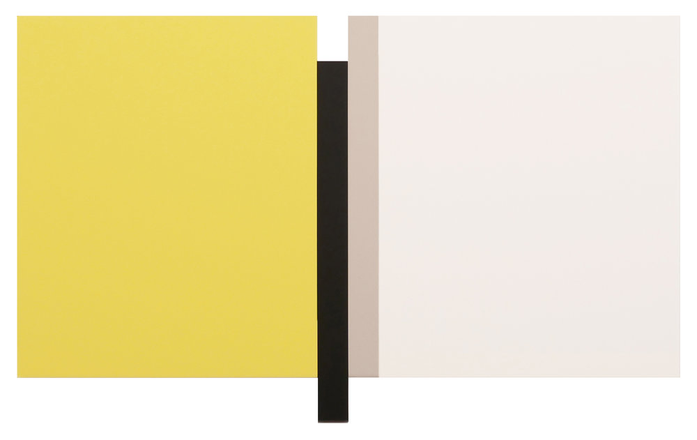 "SUNYATA YELLOW, WHITE, BLACK, CANVAS Acrylic on canvas   54 x 88.5""   INQUIRE"