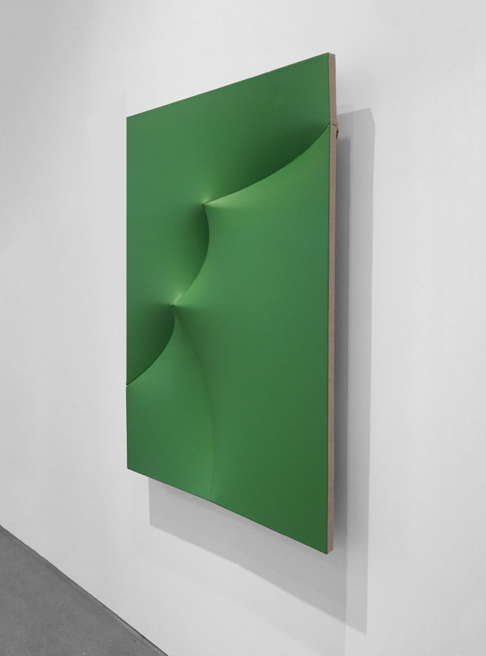 POINTING OUT BROKEN GREEN Acrylic on linen  47 x 35 x 4 in  INQUIRE